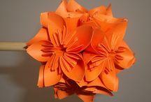 kusudama / květinové koule z papíru