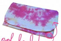 Tie Dye Clutch Bags / Our gorgeous selection of tie dye clutch bags... they are all handmade too! Ohh la la!