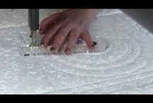 Free motion ruler quilting