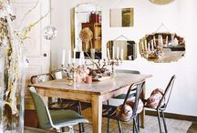 Vintage Chic Dining / A cosy country look that is elegant yet comfortable. #dining room #vintage #chic #cosy #comfortable
