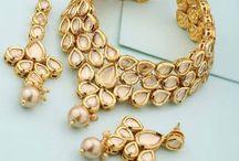 Golden stoned jewelry