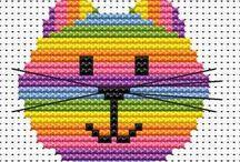 Cats cross stitch / by Vicky Kempenski