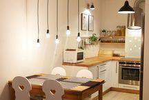 Kuchnia / Nasza pierwsza kuchnia. Mieści się ona w kawalerce :)