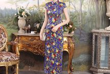 Long-length Cheongsam Qipao Chinese Dress / Long-length Cheongsam Qipao Chinese Dress