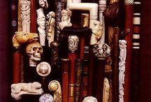Ancien walking canes