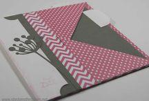 Bastelideen / Verschiedene Karten, Verpackungen, Scrapbooking, stempeln, Stanzen