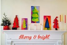 MERRY AND BRIGHT holiday decor