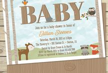 Forest Friends Baby Shower / Baby shower ideas based on the Forest Friends baby animal bedding by Carters and Sweet Jojo.