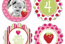 Itsy Belles Berry Sweet Party Printables / Strawberry Shortcake party printables dessert table