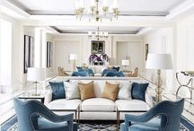 blue, purple and gold lounge