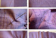 tissu froncé braided