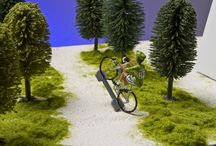 Hand Painted Cycling Figures / Hand painted individually Retro team cycling figures.