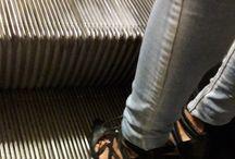 Lace up black leather sandals / Lace up black leather sandals