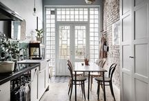 Kitchens / Kitchens with beautiful interior design and inspiring decorating ideas. HELLO LOVELY Studio (http://www.hellolovelystudio.com) celebrates all things HOME and has inspiring interior design, DIY, decorating ideas, renovation, art, and architecture--spotlighted and explored by author Michele.