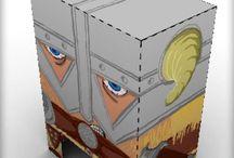 Mundo Cubo / El mundo de los videojuegos y sus personajes en papel para recortar y montar.