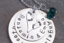 Necklaces for Loss of Twins or Multiples / Hand Stamped necklaces for loss of twins or multiples