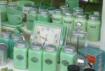 Jadeite and Milk Glass