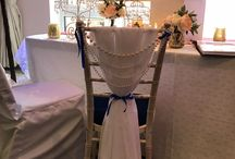 Chair  Cover Decor / Here at Enchanted Weddings we offer a wide range of chair cover decor with chair covers and sash or for the chiavari  chair drapes