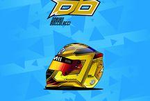 Helmet design / All helmet designs created, 2 and 4 wheels. Tous les designs graphiques sur casque auto et moto.