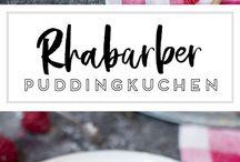 Rhabarber-Puddingkuchen