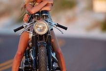 Girls and Motorcycle