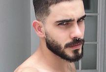 bigotes barba candado todo nombre ❤