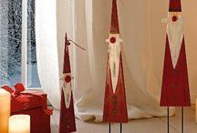 weihnachtmänner  mit knöpfen