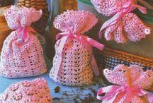 sac crochet lavande
