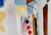 August Macke -  watercolor - gouache / paintings
