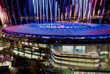 Fireworks  explore above the Maracaña Stadium in Riode Janeiro, Brazil #HeathrowGatwickCars