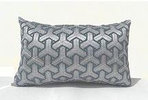 Gray silk cushion cover