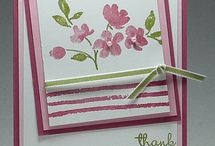painted petals / cards and gifts made using the painted petals stamp set
