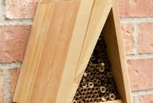 Bee Houses / Bee Hive / Bee House construction ideas for the yard