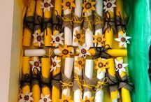 Mine - wedding invitations / invitations with sunflower