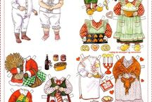Pretty Paper Dolls - just like the ones in twinkle !!