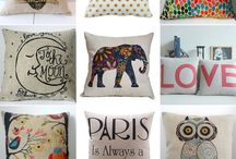 Hand painting pillows
