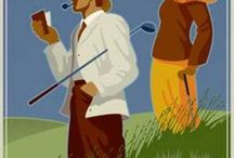 Vintage Golf / A collection of vintage posters about women's #golf.