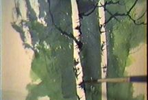 Watercolour painting -  trees