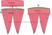 Pleated Cowl Pants