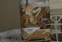 mania de garrafa Maringá / Decoração em garrafas