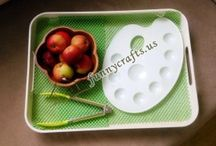 apple transfer with tongs