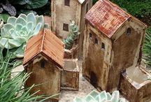 Pottery houses/Ceramic houses / This board showcases all of my art work in ceramics and fine art @A.Smit Art