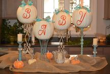 Baby Shower lil pumpkin / purple, orange, pumpkin