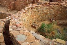 Chaco Culture / For over 2,000 years, Pueblo peoples occupied a vast region of the south-western United States. Chaco Canyon, a major centre of ancestral Pueblo culture between 850 and 1250, was a focus for ceremonials, trade and political activity for the prehistoric Four Corners area. Chaco is remarkable for its monumental public and ceremonial buildings and its distinctive architecture – it has an ancient urban ceremonial centre that is unlike anything constructed before or since. (whc.unesco.org/)