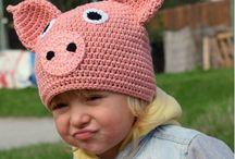 Dětské čepičky / Háčkované čepičky pro děti