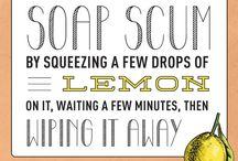 Defeat soap scum with lemon
