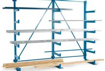 Racking Systems / A versatile range of heavy duty racking systems designed for use in warehouses, manufacturing, DIY stores, automobile and other industries involving pipes, bars, sheets, tires and other long, heavy components.