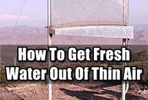 Alternative water obtaining solutions