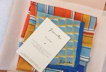 Silk scarf packaging
