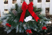 Countryview Christmas-grave blanket and wreath decorating ideas
